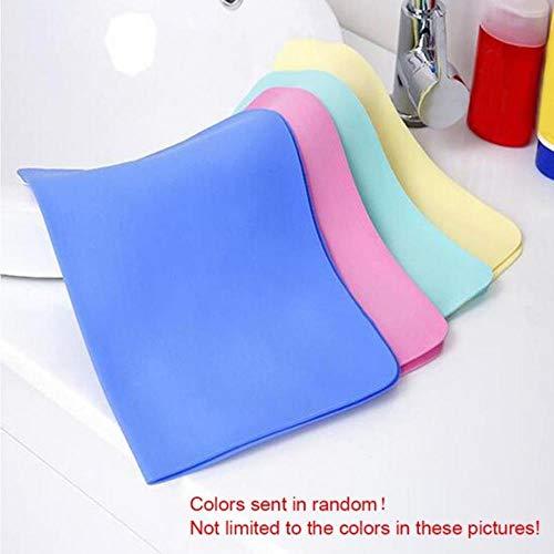 GAOYUE Bunte Synthetische Gämsenleder Home Bad Magie Fahrzeug Glas Waschen Handtuch Tuch Absorber Bad, zufällige Farbe, 1
