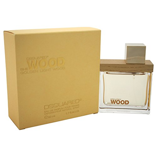 Dsquared Golden Light Wood Eau de Parfum Femme Vapo 50ml, 1er Pack (1 x 50 ml)