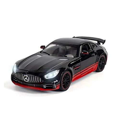 DGHF 1:24 Diecast coche modelo simulación coche aleación juguete vehículo sonido luz tire hacia atrás coche niños juguetes regalo