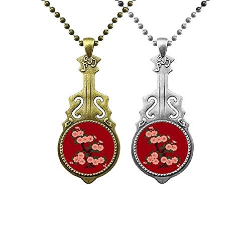 Malerei Kultur Blume Art Deco Geschenke Mode Liebhaber Musik Gitarre Anhänger Schmuck Halskette Anhänger