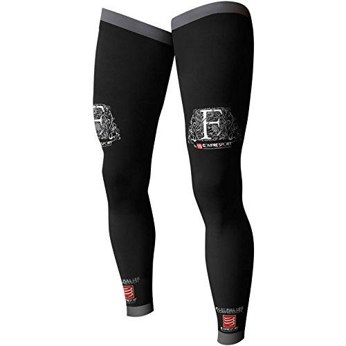 Compressport Full Leg - Calcetines unisex, color negro, talla 4