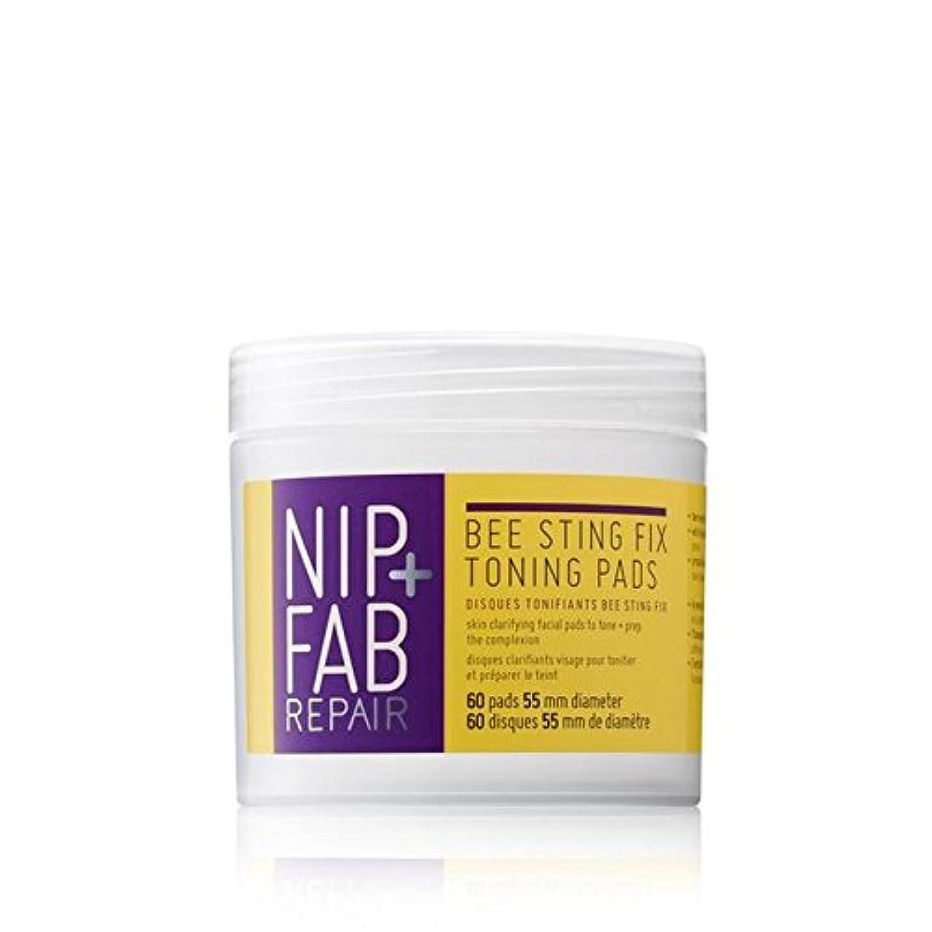 大騒ぎ助言教室Nip+Fab Bee Sting Fix Toning Pads 80ml - + 蜂刺傷修正調色パッド80ミリリットルニップ [並行輸入品]