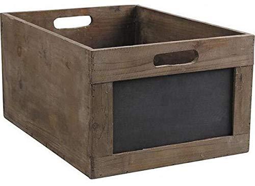 Caisse de rangement en bois avec ardoise