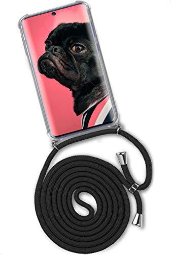 ONEFLOW Twist Hülle kompatibel mit Samsung Galaxy S20 / S20 5G - Handykette, Handyhülle mit Band zum Umhängen, Hülle mit Kette abnehmbar, Schwarz