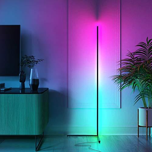 NEWSEE Lampada a stelo a LED cambia colore, lampada a stelo per un'atmosfera decorativa, per soggiorno, camera da letto, lampada da lettura verticale, può essere regolata continuamente