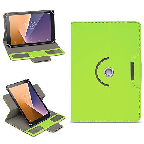NAmobile Vodafone Smart Tab N8 Tasche Hülle Schutzhülle Tablet 360° Drehbar Hülle Cover, Farben:Grün