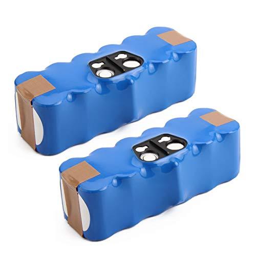 2X Exmate Ni-MH Batería de Repuesto 14,4V 4800mAh para Roomba 80501 500 600 700 800 Series 510 520 530 531 532 533 535 540 545 550 552 560 562 570 580 581 585 595 600 610 620 630 650 660 700