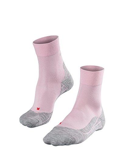FALKE Damen Laufsocken RU4, wadenlange Running Strümpfe mit Baumwolle, Sport - Socken mit mittelstarker Polsterung, Antiblasen, 1 Paar, Rosa, Größe: 41-42