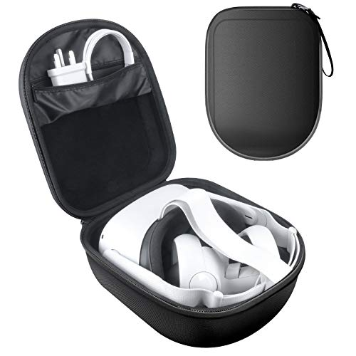 Esimen Hard VR Carry Case for Oculus Quest 2 All-in-one VR Gaming Headset Accessories Carry Bag Protective Storage Box