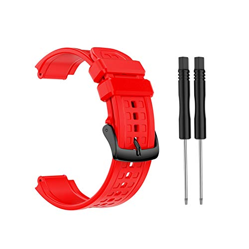 BIlinli 2021 Nueva Correa de Pulsera de Silicona de Repuesto para Garmin- Forerunner 25 Reloj GPS de Gran tamaño para Hombre con Herramientas Envío Directo