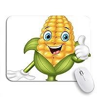 ROSECNY 可愛いマウスパッド キャラクター漫画トウモロコシ親指をあきらめてコミック愛らしい農業ノンスリップラバーバッキングコンピュータマウスパッド用ノートブックマウスマット