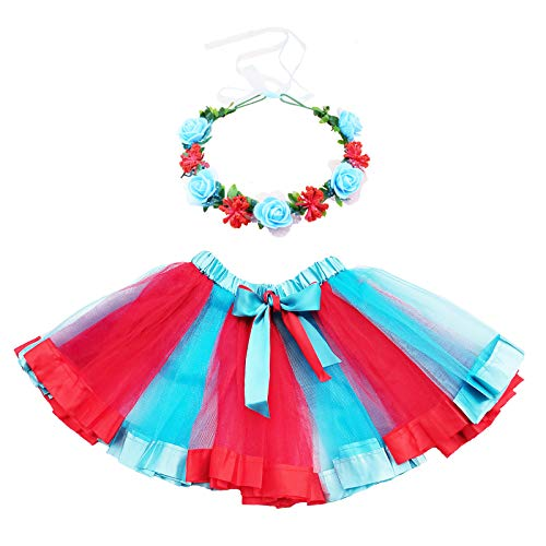 Dr Seuss Tutu Costume Toddler Kids Girls Role Play Dress Up Thing One and Thing Two