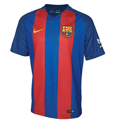 Nike Kids Barcelona 2016/2017 Home Soccer Jersey (Blue, Red) Youth Large