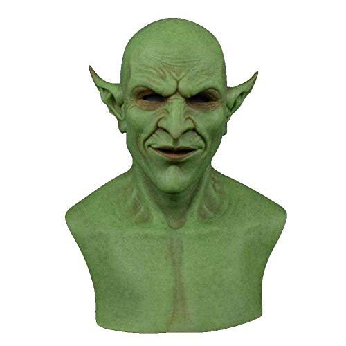miwaimao Halloween-Maske für Halloween, Geist, Teufel, Dämonen, Kobolde, Clown, Vampir, Cosplay, Kostüm, Masken für Erwachsene, Party-Dekoration, gruselige Horror-Requisiten, grün