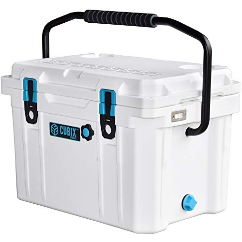 Cubix Ice Chests and Coolers | 20 Quart White Lifetime Rotomolded Ice Cooler | Portable and Hard | Great for Camping, Travel, Fishing, Beach and Patio