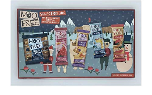 Moo Free Merry Moos Selection Box - 4 Riegel Bio, laktosefrei, vegan