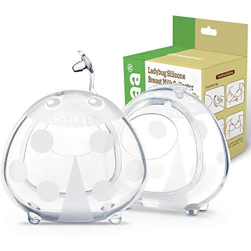 Haakaa Conchas Lactancia Materna - Recolectoras de Leche - Protectoras de Pezones, Silicona sin BPA, Cómodo de llevar, Suave Flexible y Reutilizable (75ml*2pcs)