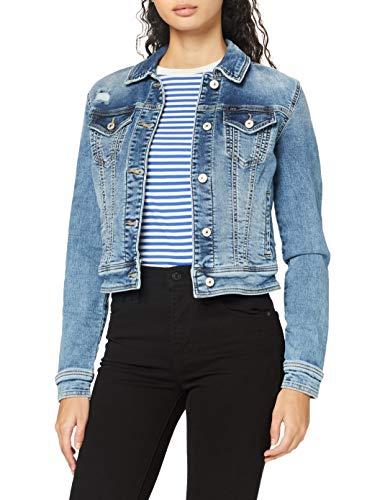 LTB Jeans Damen Destin Jeansjacke, Parwin Wash, XL