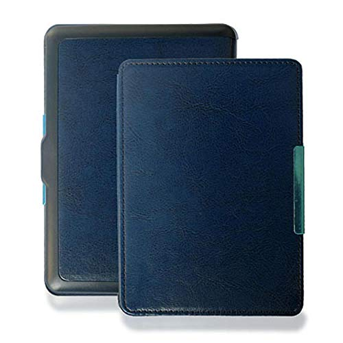 qq666 PU Funda de Cuero con Tapa para Kobo GLO 6 Pulgadas Modelo N613 Rakuten ebook eReader con Magnetic-Dark_Blue