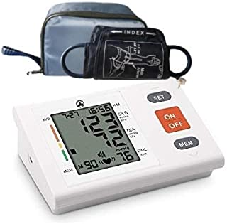 """Blood Pressure Monitor Kit,8.7""""-16.5""""Adjustable Upper Arm Cuff &Automatic Digital BP Machine Wrist for Home Travel Use-Carry Bag Include"""