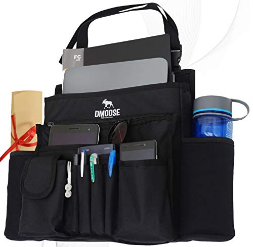DMoose Car Front Seat Organizer with Laptop and Tablet Storage, Compact Passenger Side Caddy with...