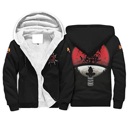 Naruto - Sudadera con capucha para hombre (2 unidades), color blanco