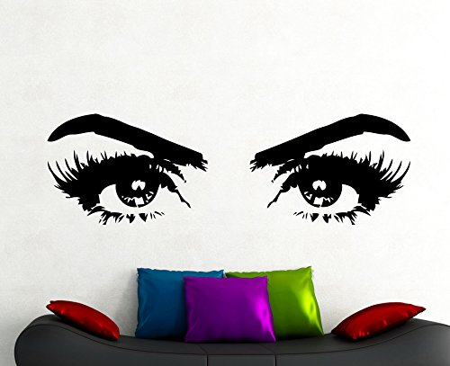 Beautyful Woman Eyes Sticker mural Make Up Autocollant Home Design  d\'intérieur Salon Chambre à coucher Salon de beauté Décor Vinyle Art  amovible ...