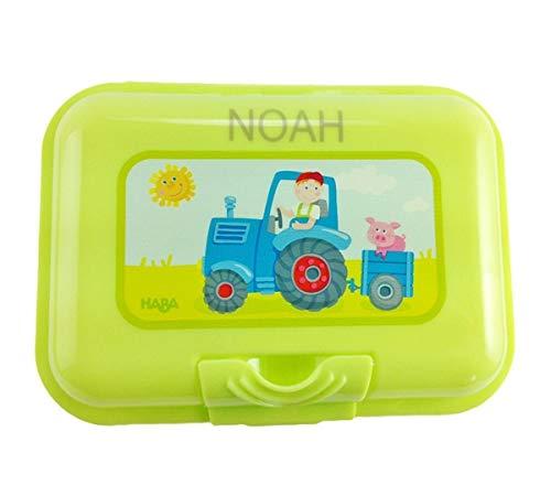 Brotdose mit Namen, Haba, Traktor