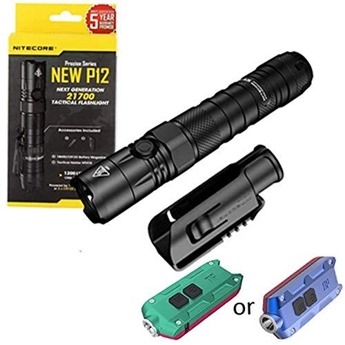 Nitecore P12 Lampe de poche tactique LED 1200 lumens avec pointe pour l'hiver 360 lumens (plusieurs options de couleurs)