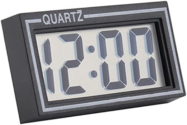 Quysvnvqt Digital Clock LCD Screen Table Auto Car Dashboard Desk Date Time Calendar Small Clock