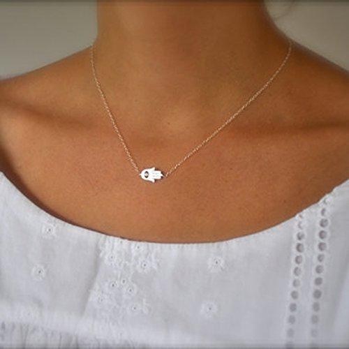 Kercisbeauty - Collar con colgante de mano de Fátima, para mujeres y niñas