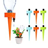 YXUS 6PCS Self Watering Spikes, Plant Self Watering Devices, Automatic Drip Irrigation Plant Waterer with Slow Release Control Valve Switch for Outdoor and Vacation Plant Watering