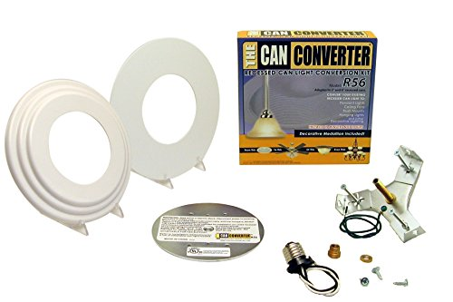 "White Beveled and Flat R56 Recessed Can Light Conversion Kit for 5"" and 6"" Recessed Can Lights"