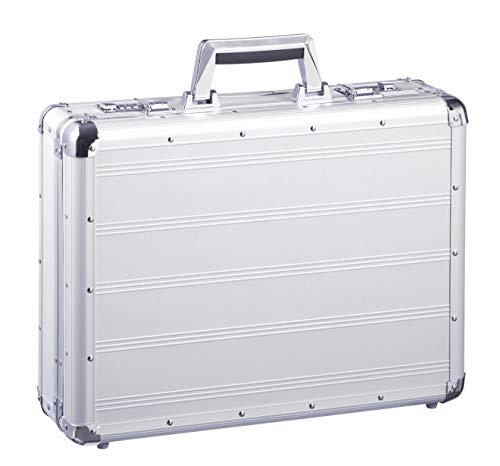Aktenkoffer Alu Alukoffer Bowatex Aluminiumkoffer Koffer Silber 45 cm