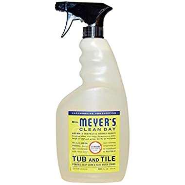 Mrs. Meyer's Tub and Tile Cleaner, Lemon Verbena, 33 Fluid Ounce (Pack of 2)