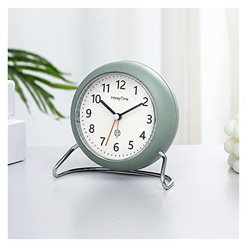 OUMYLFCNEC Despertador Estilo Simple Reloj Despertador Estudiante Noche Reloj Mudo Luminoso Infantil Alarma Personalidad pequeño Reloj de Escritorio Radios Reloj (Color : B)