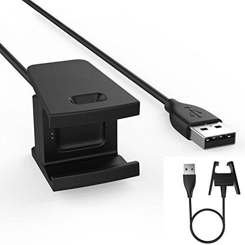 TECHGEAR Caricatore per Fitbit Charge 2, Sostituzione USB Cavo di Ricarica Caricabatteria Dock Adattatore per Fitbit Charge 2 Cardiaca & Tracker di attività Fitness