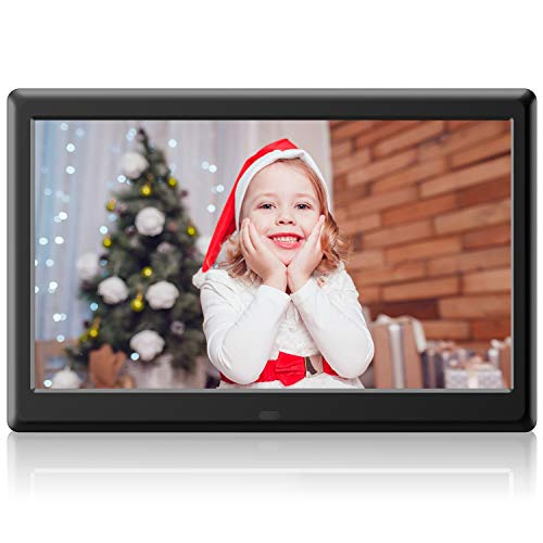 DBPOWER Advanced 10 inch Digital Picture Frame - Electronic Photo & Video Frame with 1280x800 IPS HD Display, Support 1080P Videos, Photos Auto Rotate, Remote Control, Calendar View & USB/SD Card Slot