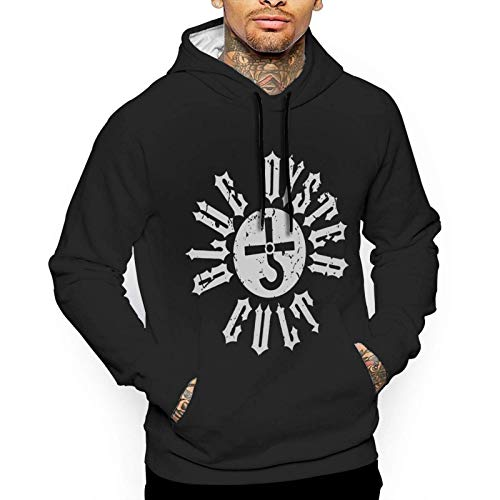 Yougou Blue Oyster Cult Men's Casual Pullover Fashion Printing Hooded Sweatshirt with Pocket
