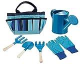 Foldaway, borsa per attrezzi multiuso, facile da trasportare e da giardinaggio, set di attrezzi per il giardinaggio per bambini, set di attrezzi per il giardinaggio, colore blu