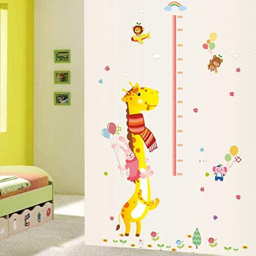 Cartoon Grow Hoogte Meetliniaal Kwekerij Kinderen Kamer Vinyl Verwijderbare Tegel Deur Muurstickers Decal Decor Mural