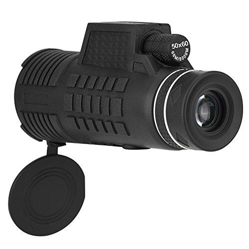 Denash 50x60 Monocular Telescope, Nachtsicht wasserdichte optische Gläser HD Kameraobjektiv mit Handy-Clip & Stativ