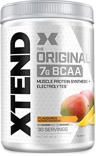 XTEND Original BCAA Powder Mango | Branched Chain Amino Acids Supplement | 7g BCAAs + Electrolytes for Recovery & Hydration | 30 Servings