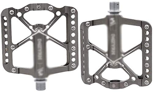 HEBAI Waterproof Sealed Bearing Mountain Pedal,9/16' Aluminum Alloy Body Cycling Pedals Suitable for BMX, MTB, Mountain Bikes, Racing Bikes, City Bikes, Touring Bikes, Folding Bikes, Etc 10.1