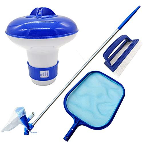 TIANXIAWUDI 5 piezas portátiles de limpieza de piscina, aspirador de agua, cabezal de aspiración, accesorio para piscina