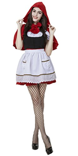 Bigood Costumes Déguisement Cosplay Maid Adulte pour Halloween XL