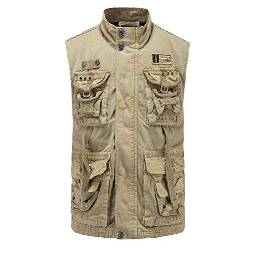 Adelina Soft Fashionable mannen Fishing Jongens Walking Vest Mountain Gilet Waistcoat Jacket Father Boyfriend Gift staande kraag met multi-tas outdoor vest jassen