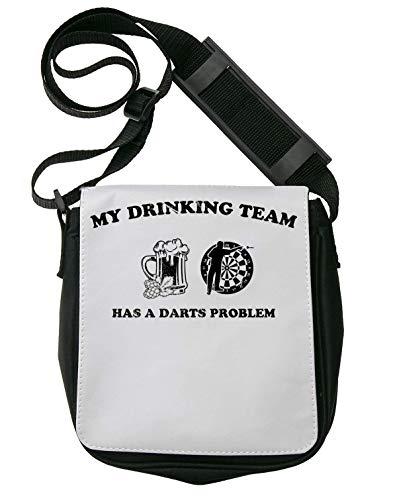 My Drinking Team Has A Darts Problem Drunk Schultertasche Herren Umhängetaschen Damen Taschen Unisex Shoulder Bag