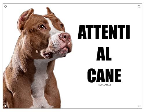 Pitbull cuidado con el Perro Mod 1Placa cartel de metal