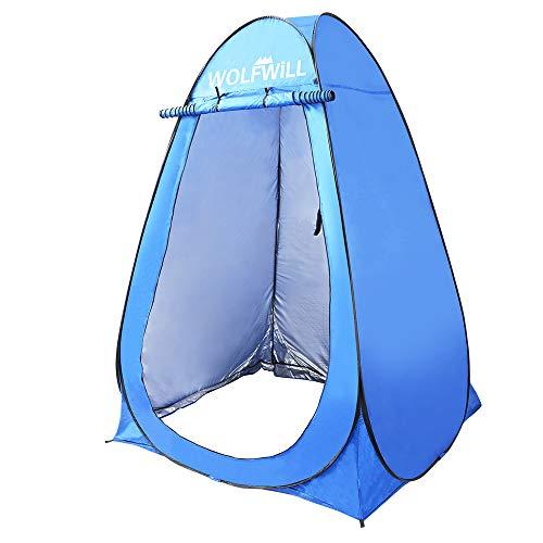 WOLFWILL Cabina da doccia portatile pop-up, tenda da campeggio e spiaggia, con borsa per il trasporto per due